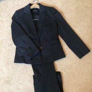 Women's club Monaco suit in dark blue pinstripe